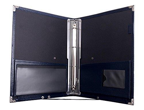 Classic Cantabile muziekmap Deluxe blauw (stevig kunstleer, polsriem, noten tot DIN A4, uitneembaar ringelement, beschermhoeken)