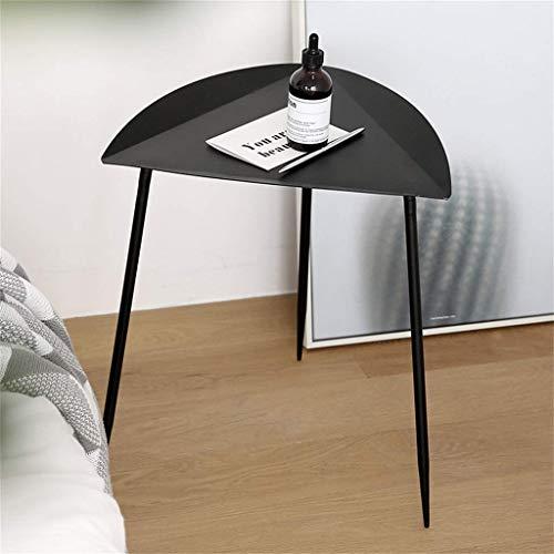 N /A Schmiedeeisen Couchtisch, dreieckige Tischplatte, leicht und leicht zu bewegen, verwendet in modernen Homeiving Room Balkon