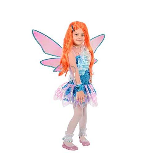 Ciao-Bloom Tynix costume trasformazione Winx Club bambina, 4-6 anni, Blu, Rosa, 11235.4-6