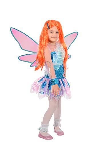 Ciao- Bloom Tynix Costume trasformazione Winx Club Bambina, 4-6 Anni, Blu, Rosa, 11235.4-6