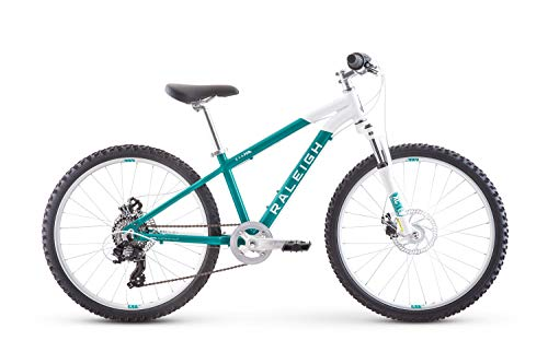 Raleigh Bikes Eva 24 Kids Hardtail Mountain Bike for Girls Youth 8-12 Years Old, Teal