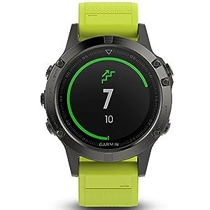 Garmin fēnix 5, Premium and Rugged Multisport GPS Smartwatch, Slate Gray W/ Yellow Band