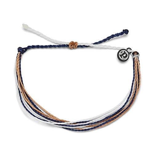 Pura Vida Original Float On Bracelet - 100% Waterproof, Adjustable Band - Brand Charm, Multicolor