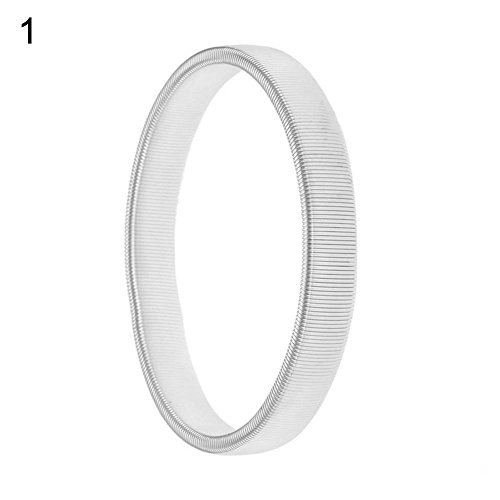 Livecity Bracelet élastique simple pour barman - En métal - Couleur unie - 3 couleurs