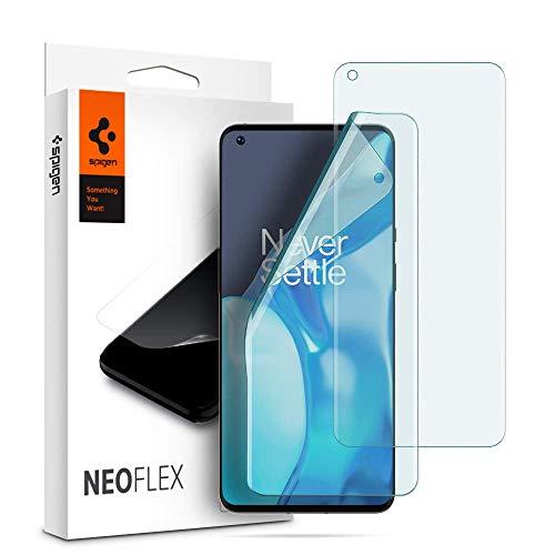 Spigen NeoFlex Schutzfolie kompatibel mit OnePlus 9 Pro, 2 Stück, Kratzfest, Wasserinstallation Folie