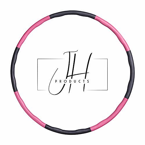 JH-PRODUCTS Aro de hula hoop para niños y adultos, 6 – 8 secciones desmontables, aro deportivo para ejercicio, pérdida de peso, tonificación abdominal