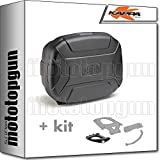 kappa maleta kvc35n k'vector 35 lt + portaequipaje monokey compatible con honda xl 650 v transalp 2006 06