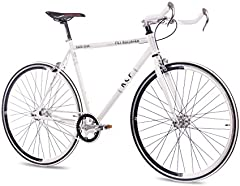 Unbekannt '28Pulgadas KCP FG Bullhorn Bicicleta de Carreras Blanco Single Speed Fixed Gear
