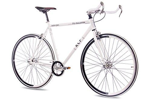 Unbekannt '28Pulgadas KCP FG Bullhorn Bicicleta de Carreras Blanco Single Speed Fixed Gear, tamaño Large, tamaño de Rueda 28.00 Inches