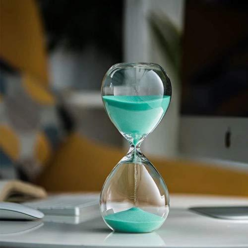 ZXZH Reloj de Arena Temporizador Reloj de Arena 30 Minutos Reloj de Arena Temporizador Cristal Transparente Reloj de Arena Artesanía Creativa Adornos Decorativos decoración de Vidrio