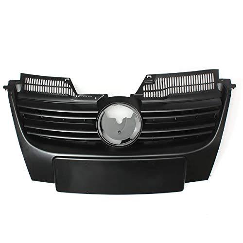 N\A Parrilla Delantera del Coche For 2006-2010 Accesorios for el Coche Jetta MK5 Frente Negro Alta Parachoques Sport ABS Rejilla Grill Seguro de Calidad