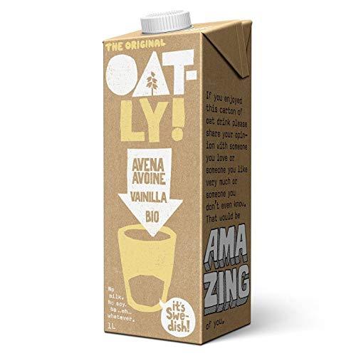 Oatly - Bebida de Avena y Vainilla - 6 x 1 litro (6 litros en total)