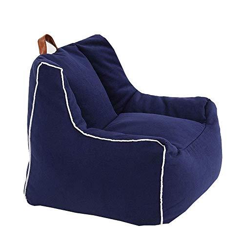 TWDYC Sillas for niños Adultos Bolso de la Sofá Sofá Cover Cubierta Lazy Ocioso Juguetes Bolsa de Almacenamiento (Color : Blue)