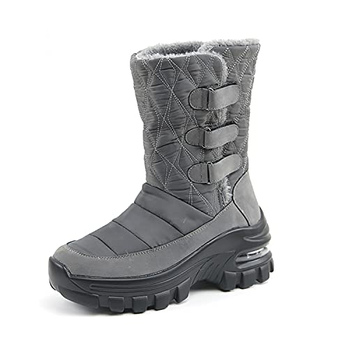 Women's Air Cushion Snow Boots Winter Lined Frosty Warm Anti-Slip Boot Fashion