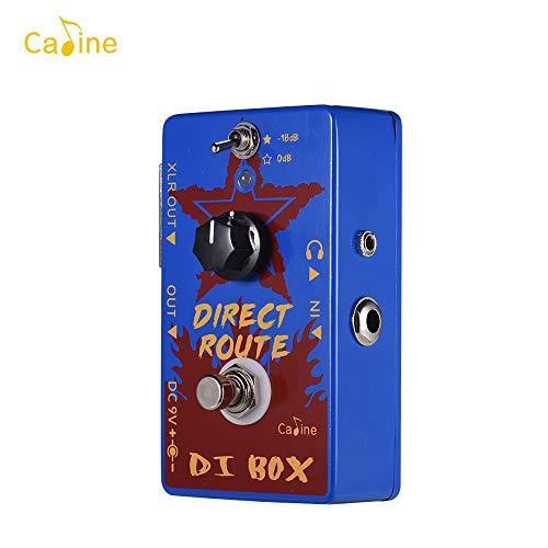 Fesjoy pedales de CP-64 Direct Route Blue DI Box Pedales de efectos de guitarra eléctrica Auriculares DI Amp Pedal de guitarra acústica portátil con True Bypass