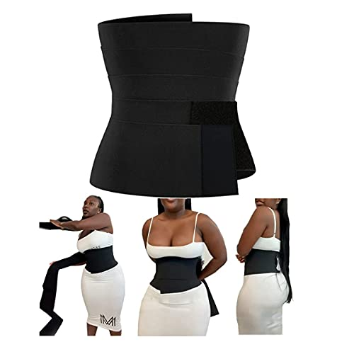Bandage Wrap Lumbar Waist Support Belts Adjustable Back Braces Tool,Waist Trainer Women - Waist Cincher Trimmer - Slimming Body Shaper Belt - Sport Girdle Belt{One Size}