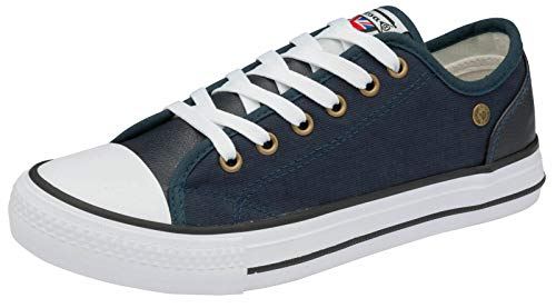 Dunlop Damen Brookland Casual Lace Up Sneakers Pumps, Blau - Deanne Marineblau - Größe: 40 EU