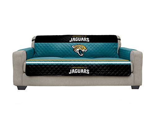Pegasus Sports NFL Microfiber Furniture Protector Cover with Elastic Straps, Sofa, Jacksonville Jaguars