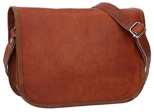 Gusti Umhängetasche Leder - Taylor S Laptoptasche bis 9,7'' Handtasche Tasche Ledertasche Aktentasche Braun Damen