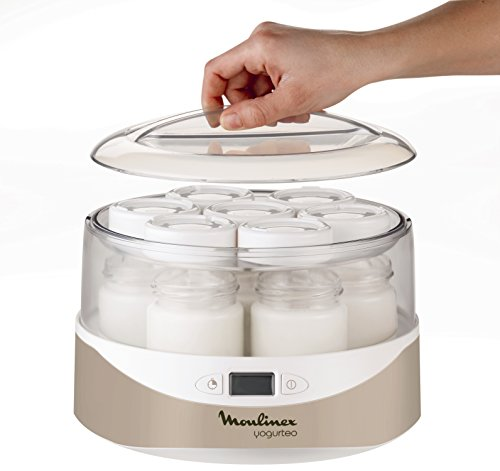 Moulinex YG231E Yogurteo Yogurtiera con 7 Vasetti in Vetro da 160 ml