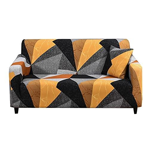 Funda de sofá Deslizante con Estampado de Rayas, Funda de sofá elástica a Prueba de Polvo Completa, decoración del hogar, Funda de sofá elástica a Prueba de Polvo A15, 2 plazas