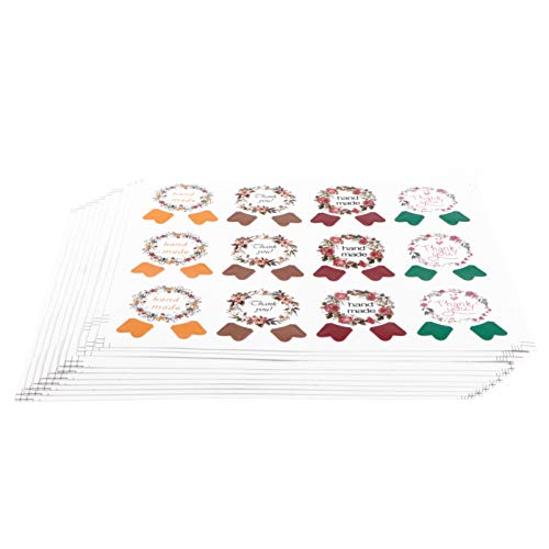Minkissy 10Pcs Etiquetas de Tubo de Brillo de Labios Brillo Personalizado Etiqueta de Bricolaje Etiqueta de Regalo de Agradecimiento Sellos de Sobres Etiqueta para Hornear Paster para