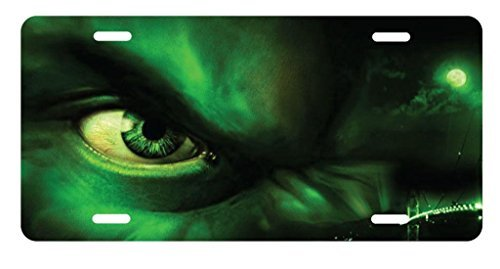 panda Incredible Hulk Angry Closeup License Plate license frame custom Metal License Plate for Car Novelty license plate 12 inch X 6 inch by Panda plate