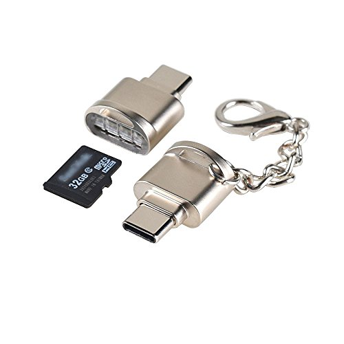 Cewaal High Speed USB Typ C Micro SD TF Kartenleser, OTG LED Flash Speicherkartenleser für Mac OS Android Telefon Tablet