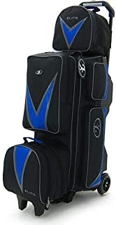 Elite Deluxe 3-4-5 Blue Bowling Bag - League & Tournament Roller - Holds Up to 5 Bowling Balls