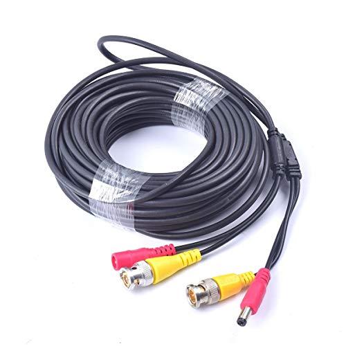 Cocar 65FT 20M All-in-One BNC Vídeo Extensión Cable con Conector CC Alimentación para Cámaras de Seguridad Inicio de Vigilancia CCTV Circuito Cerrado de TV del Sistema