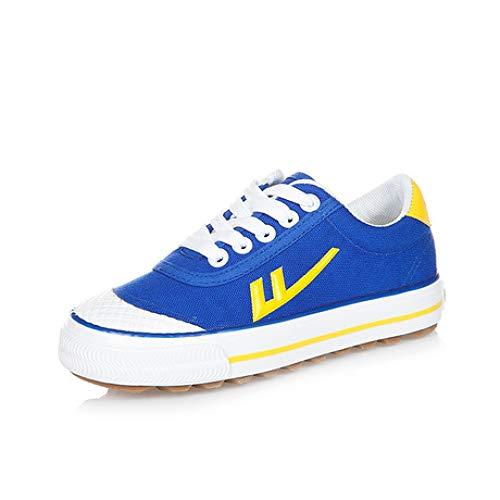 WXH Sneakers Frühling und Herbst Neue Leinwand Schuhe Fußball Schuhe Kinder Sport Studente