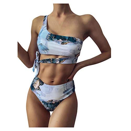 Bikinis Mujer 2021 Push Up Halter Bikini Traje de baño Acolchado Bra Tops y Braguitas Bikini Sets Talla Grande Bañador Vacaciones