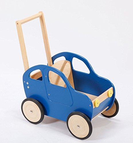 Lauflernwagen Holz Motiv Auto, Farbe:Ritter Blaubart Blau
