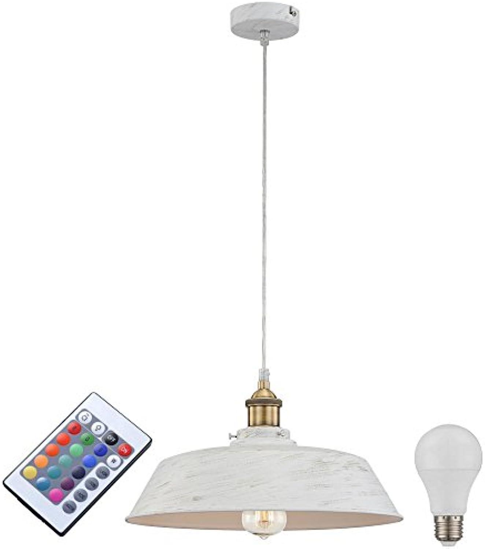 Decken Leuchte rund Hnge Beleuchtung Fernbedienung im Set inklusive RGB LED Leuchtmittel