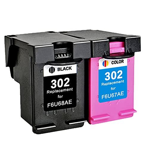 AZXC Reemplazo de Cartucho de Tinta Compatible para HP 302XL Trabajo para 1110 1112 2130 2131 2132 2133 3630 3632 3637 4510 4511 4513 4516 3830 3832 4650 Impresora, Toner Black+Color