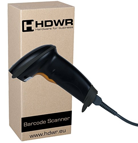 USB Barcode-scanner code-scanner handheld, zwart Windows PC laptop Linux Wired, HD42