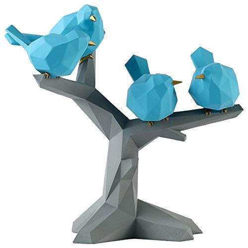Esculturas Estatuas Adornos Estatuilla Figuras Coleccionables Origami Simple Gorrión En El Árbol Adornos Decoración del Hogar Artesanías De Resina Estantería Estantería Escultura Escritorio Decoració