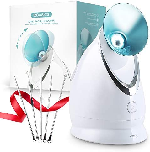 EZBASICS Facial Steamer Nano Ionic Face Steamer with Aromatherapy Design for Home Facial Warm product image