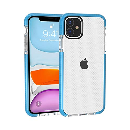 ZHANGHUI Carcasa protectora para iPhone 11, diseño de baloncesto con textura anticolisión TPU (negro), color azul