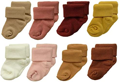 HYPERCAPE Unisex Baby Newborn and Baby Socks Set 0 12 Months 8 Pairs Ribbed Set C product image
