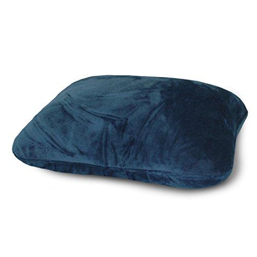World's Best Microfiber, Navy Feather Soft Retangular Travel Pillow