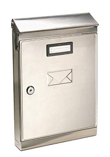 Vigor Blinky 27265-10 Eco-Lettera Cassetta per Lettere Inox, 22x7.5x32, Acciaio