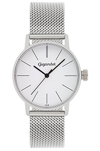 Gigandet Reloj Mujer Cuarzo Minimalism Analógico Correa de Acero Plata G43-005