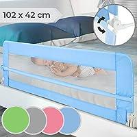 Barrera de Cama para Niños - Abatible y Portátil, Tamaño 102x42cm, Fácil Instalación, Color a Elegir - Barandilla de Protección Anticaídas para Bebés, Protector Plegable