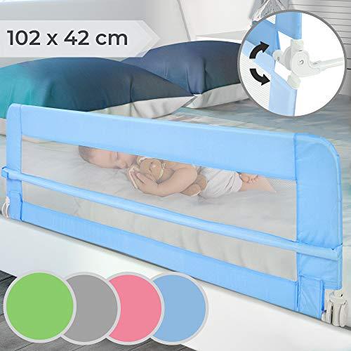 Bettgitter klappbar - Farbwahl, Größe: 102/42cm, einfache Montage, passend für Kinderbetten, Elternbetten - Bettschutzgitter, Kinderbettgitter, Babybettgitter, Gitter, Rausfallschutz