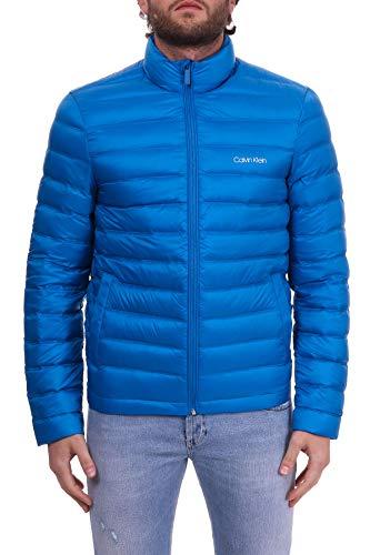 Calvin Klein Daunenjacke wasserdicht mit Reißverschluss, Blau 44