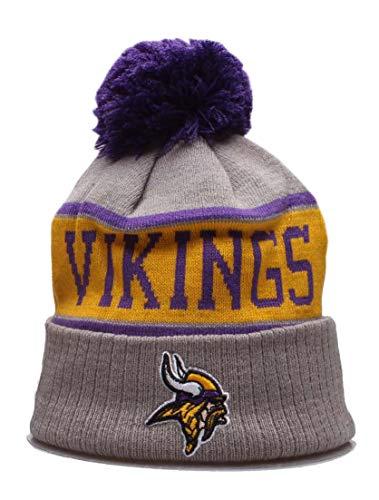 2019 Fans Hat Sideline Sport Knit Beanie Winter Pom Knit Hat Cap for Gift (Minnesota)