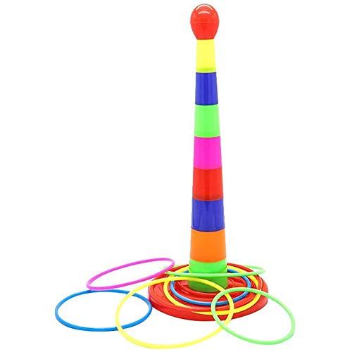 Ouder-Kind Sport Familie Gooien Beentje Spelen Laag Voor Laag Rainbowtoren Beentje Vroegschoolse Educatie Educatief Speelgoed
