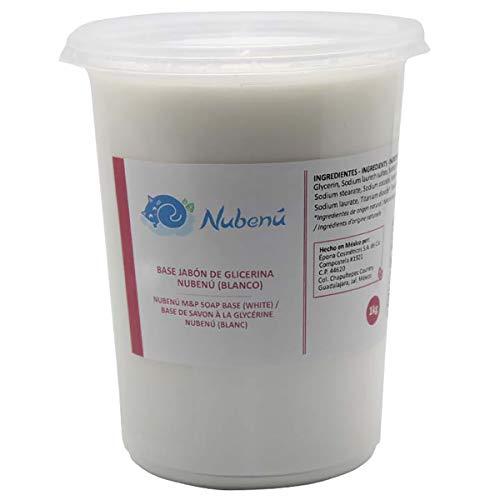 Base de jabón de glicerina transparente o blanco (Melt and Pour) (1 kg, Blanco)