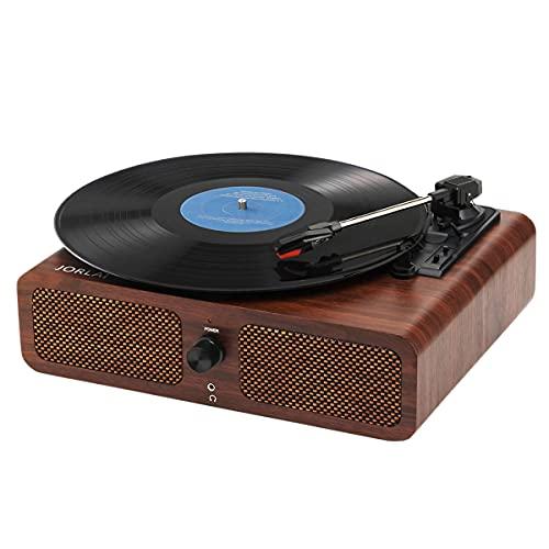 Giradischi per Grammofono 33/45/78 Giri/min Lettore Vinile Bluetooth Integrato con 2 Altoparlanti...